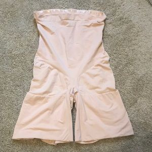Spanx mid thigh body suit high waist 2X